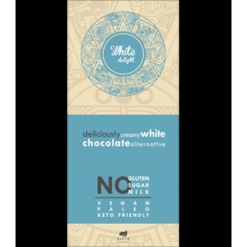 Ciocolata cremoasa alba fara gluten, lapte si zahar - 80g