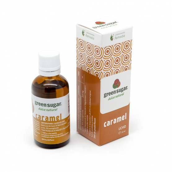 Green sugar lichid cu aroma de caramel