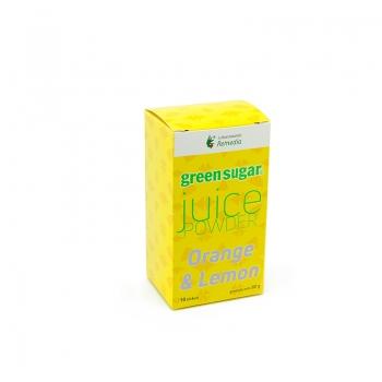 Juice Powder cu Green Sugar si aroma de lamaie si portocala (10 stickuri)