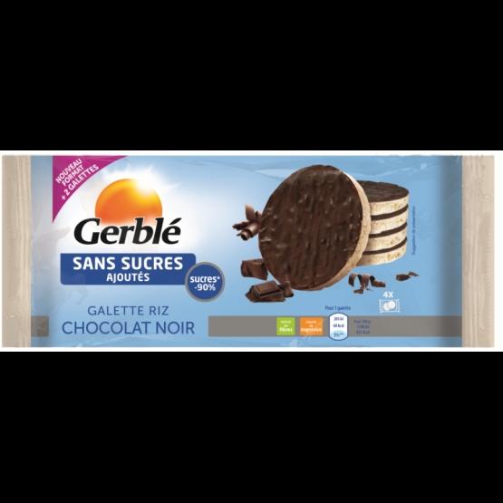 Gerble Glucoregul Fara Zahar Galete De Orez Glazurate Cu Ciocolata Neagra, 130 G