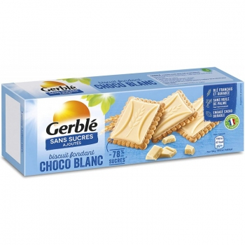 Gerble Glucoregul Biscuiti Cu Tableta Ciocolata Alba 126g