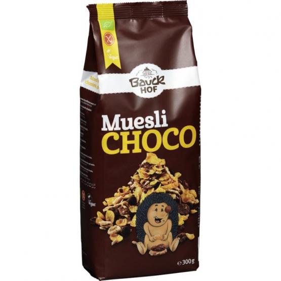 Bauckhof Muesli Crocant Ciocolata Neagra Bio Fara Gluten, 300 G