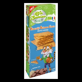 Bio Junior Biscuiti Eco Cu Quinoa Si Ciocolata 135g