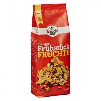 Bauckhof Muesli Crocant Cu Fructe Bio Fara Gluten, 325 G