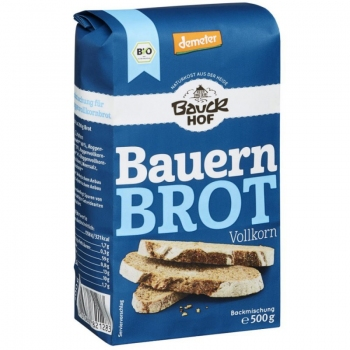 Bauckhof Bio Premix Paine Taraneasca Integrala, 500g