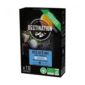 Eco Destination Capsule Cafea Pur Arabica - Decaf 55g