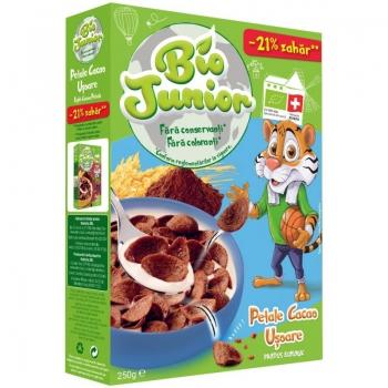 Bio Junior Cereale Petale Cacao Usoare 250g
