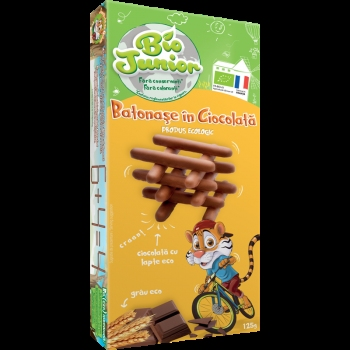 Bio Junior Eco Batonase Ciocolata Cu Lapte 125g