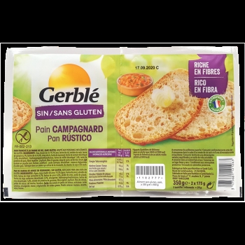 Gerble No Gluten Paine Rustica 350g
