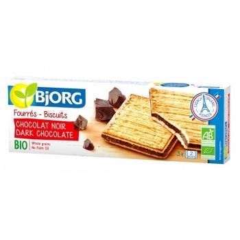 Bjorg Eco Biscuiti Umpluti Cu Ciocolata Neagra 150 G