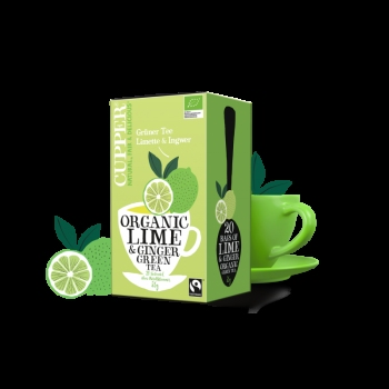 Eco Cupper Ceai Verde Lamaie-ghimbir 20x1,75g