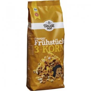 Bauckhof Muesli Crocant Din 3 Cereale Bio Fara Gluten, 225 G