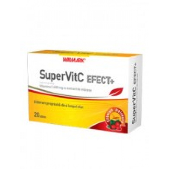 SUPER VITAMINA C EFECT+ 600mg 20tb WALMARK