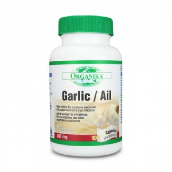 Garlic Ail - Usturoi, extract dezodorizat - 500 mg - 100 capsule / Organika Health Products