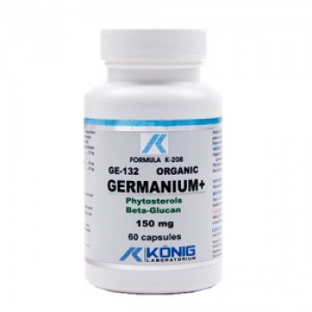 Organic germanium 132 cu fitosteroli si beta-glucan, 150 mg - 60 VCaps / KONING