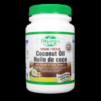 Virgin Coconut oil - Ulei de cocos cu Omega-3 - 500 mg - 60 cps / Organika