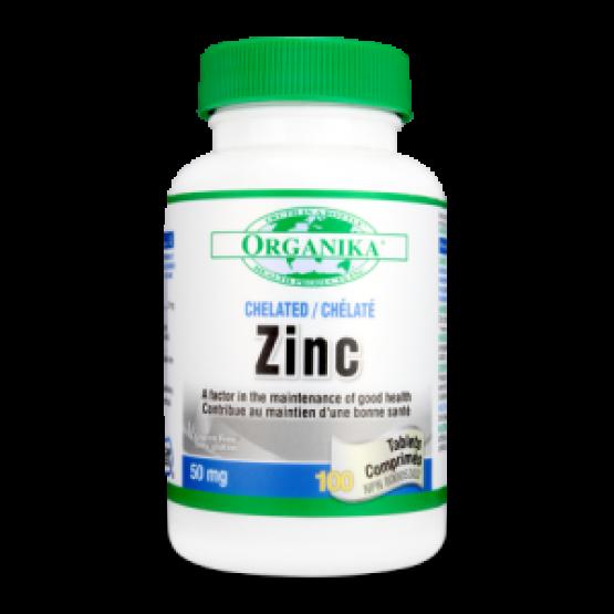 Zinc Chelatat: mineral esential - 50 mg - 100 tablete / Organika