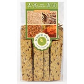Crackers vegani cu susan si condimente 125 g - AMBROZIA