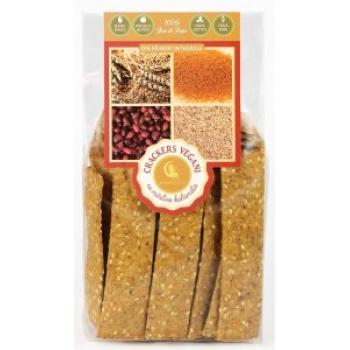 Crackers vegani cu masline kalamata 125 g - AMBROZIA