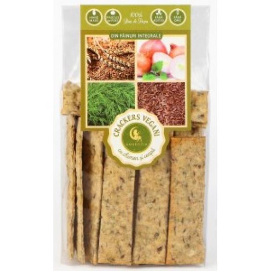 Crackers vegani cu chimen si ceapa 125 g - AMBROZIA
