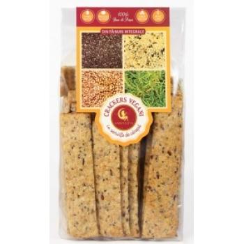 Crackers vegani cu seminte de canepa si chia 125 g - AMBROZIA