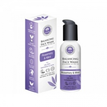 Gel de curatare facial echilibrant cu rozmarin si menta pentru tenul gras 100ml / PHB