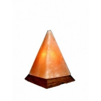 LAMPA ELECTRICA DIN CRISTALE DE SARE ''PIRAMIDA'' MONTE (2 kg)