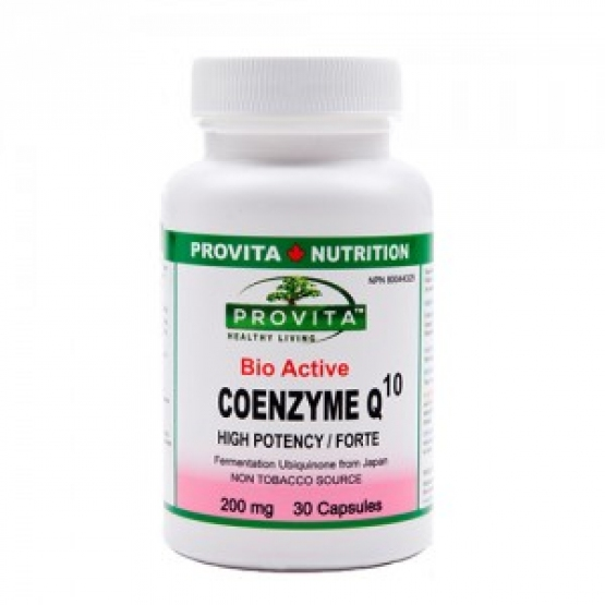 Coenzima Q10 Forte Bio-Activa (Japonia) 200 mg/30c - PROVITA