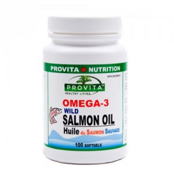 Omega 3 - Ulei de somon salbatic de Pacific -1000mg - 100 gelule / Provita