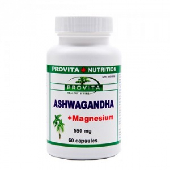 Ashwagandha cu Magneziu - Adaptogen, calmant, tonic revitalizant - 60 cps