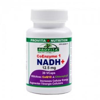 NADH+ Forte 12,5 mg: Coenzima CoE1 (Japonia) - 30 tablete / Provita