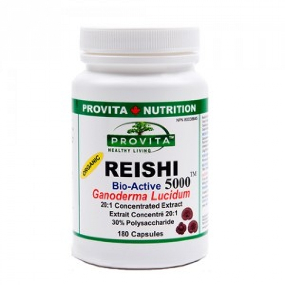 Reishi 5000 Ganoderma: extract bioactiv standardizat 180 capsule / Provita