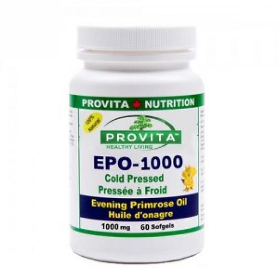 EPO 1000 - OMEGA 6 - EVENING PRIMROSE OIL (Ulei de Primula) 1000mg - 60 capsule / Provita
