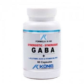 GABA Ne-Sintetic cu P5P (Acid Gama Amino Butiric) 60 cps.