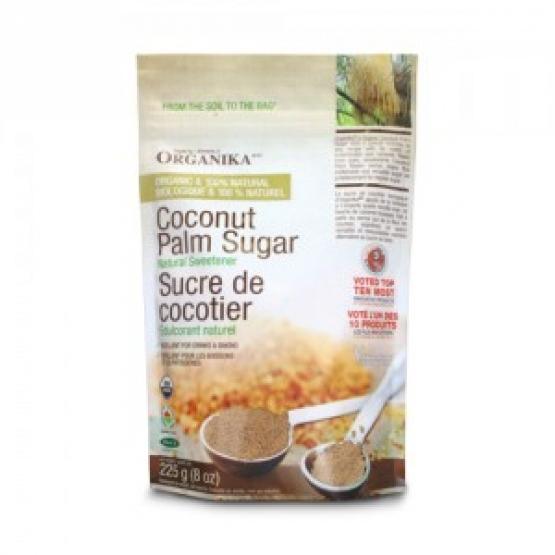 Zahar brun ecologic din palmier de cocos - 225 g / ORGANIKA