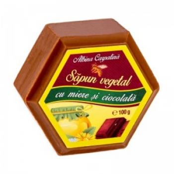 SAPUN HEXAGONAL MIERE&CIOCOLATA 100GR / Apicola