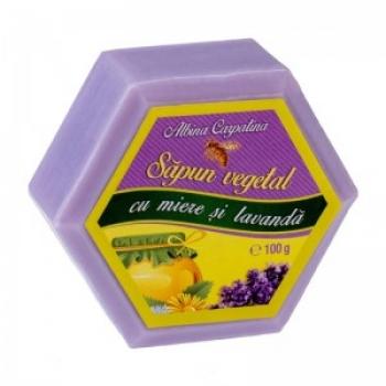 SAPUN HEXAGONAL MIERE&LAVANDA 100GR / Apicola