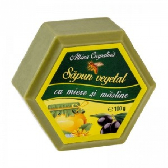 SAPUN HEXAGONAL MIERE&ULEI MASLINE 100GR / Apicola