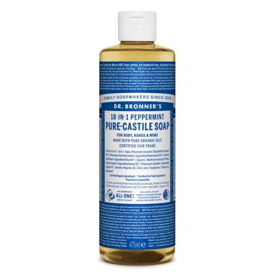 Sapun lichid de Castilia 18-in-1 Menta, 475 ml