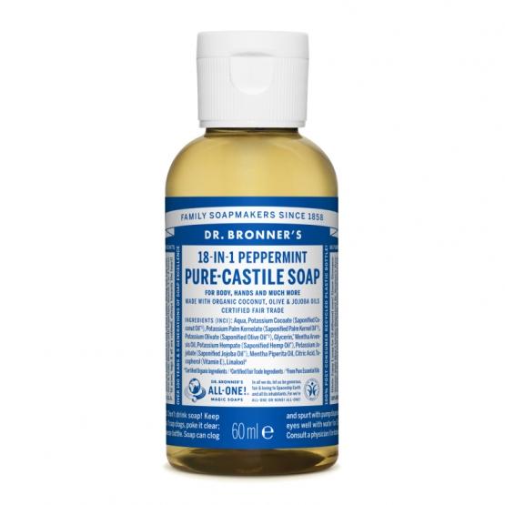 Sapun lichid de Castilia 18-in-1 Menta, 60 ml