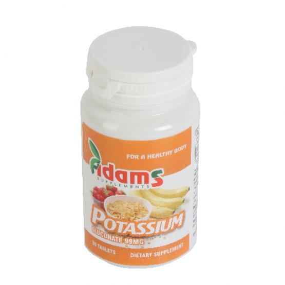 Potasiu (gluconat de potasiu) 99mg 90tab