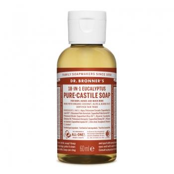 Sapun lichid de Castilia 18-in-1 Eucalipt, 60 ml