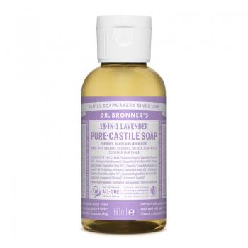 Sapun lichid de Castilia 18-in-1 Lavanda, 60 ml