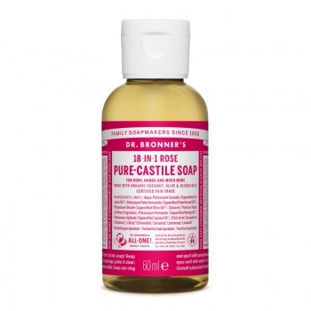 Sapun lichid de Castilia 18-in-1 Trandafiri, 60 ml