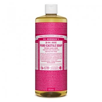 Sapun lichid de Castilia 18-in-1 Trandafiri, 945 ml