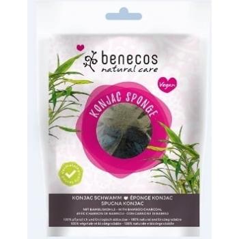 Burete Konjac cu carbune de bambus pentru ten gras si acnee - Benecos