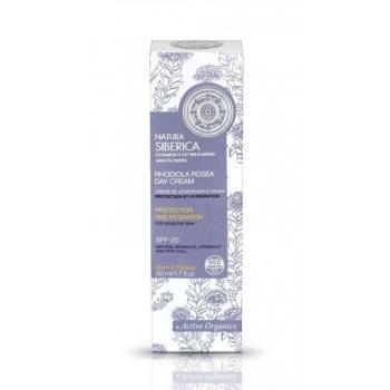 Crema de zi hidratanta ten sensibil cu FPS 20, Rhodiola Rosea, 50 ml - Natura Siberica…