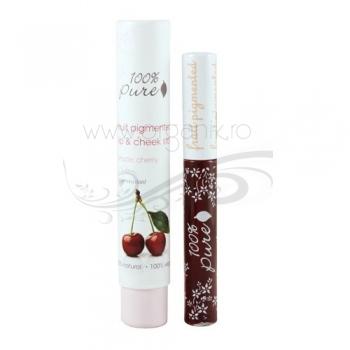 Nuantator pentru obraji si buze rezistent la apa, Cherry - 100 Percent Pure Cosmetics