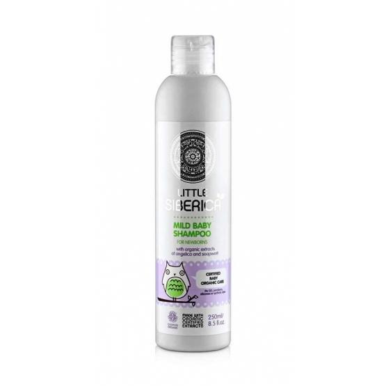 Sampon organic bland pentru nou-nascuti cu angelica, 250 ml - Little Siberica