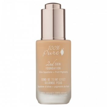 Fond de ten serum cu efect 2nd Skin, no.4 (Peach Bisque) - 100 Percent Pure Cosmetics